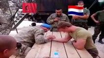 Turkish Soldier Vs Netherlands Soldier | Big Arm Wrestling