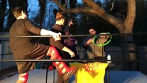 SCARY STUFF HAPPENS AT NIGHT IN OFFICIAL TAG TEAM PRO WRESTLING MATCH!
