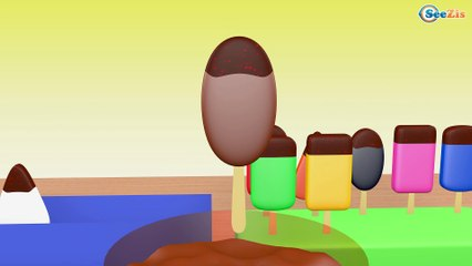 Learn Colors & Shapes with Ice Cream Bowling Game - Nursery Rhymes for kids FunColorsKids