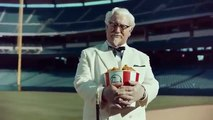 KFC Baseball commercial with Darrell Hammond as Colonel Sanders (2015)