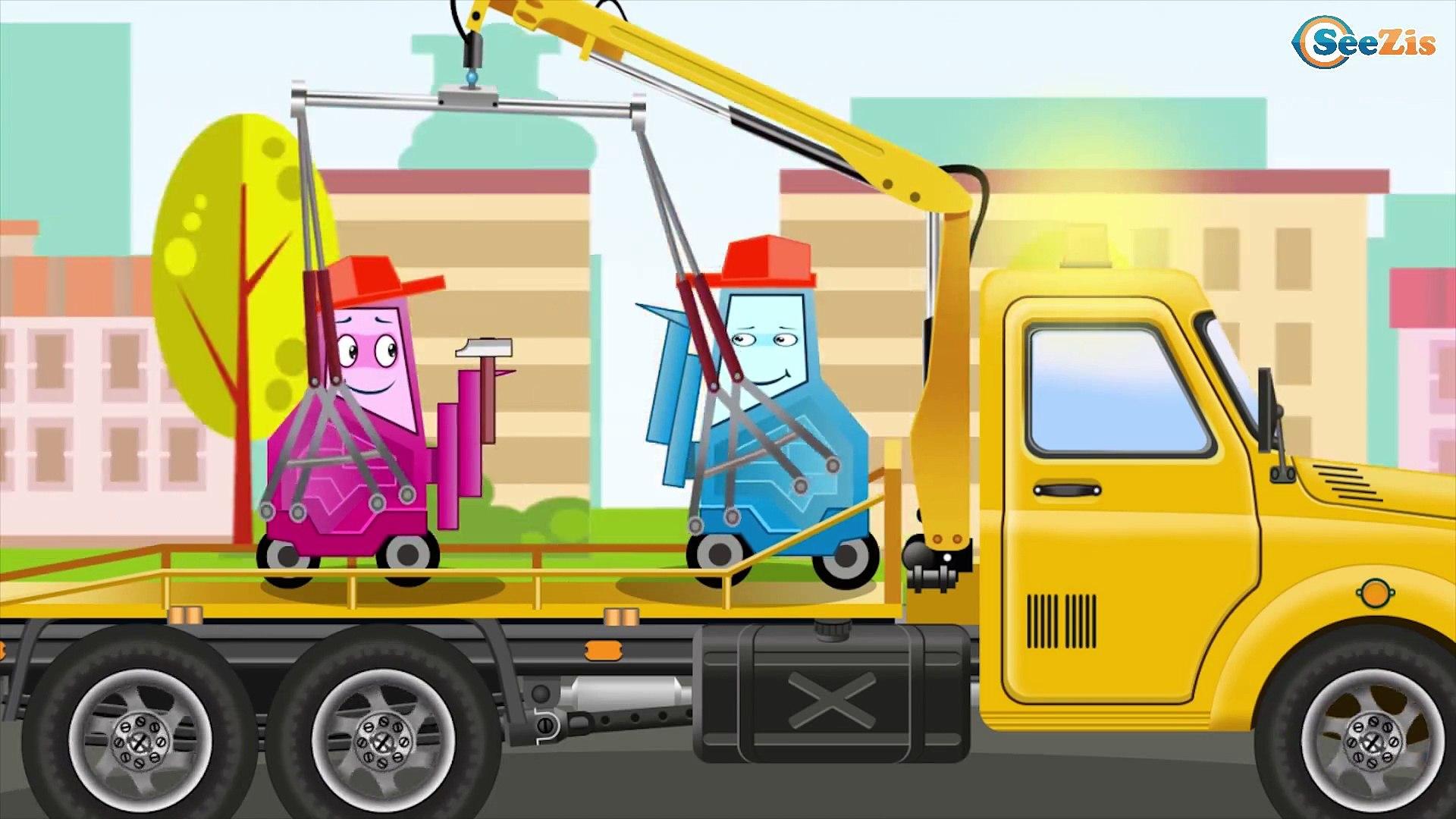 Le Camion Benne avec Véhicules aideront à Amener du Verre et Sable. Voitures pour les enfants