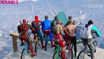 EXTREME BMX RACE (Funny Superhero Contest Video w/ Batman Harley Quinn Spiderman Joker)