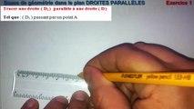 Maths 6ème - Les Bases De La Géométrie :  Droites Parallèles Exercice 1