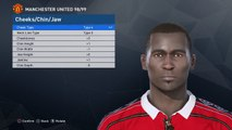 Andy Cole face PES 2017 (Manchester United 1998/99)