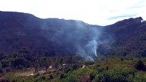Paysages lunaires à Olcani après les incendies du Cap Corse