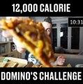 Il mange 12,000 calorie de Pizza Domino's - Domino's challenge