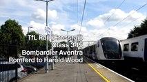 TfL Rail (Crossrail) - Class 345 Bombardier Aventra - Romford to Harold Wood