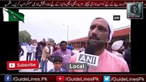 Indian Media crying on Pakistani Flag at Wagah border - 14 august 2017 - Pak army - soldiers