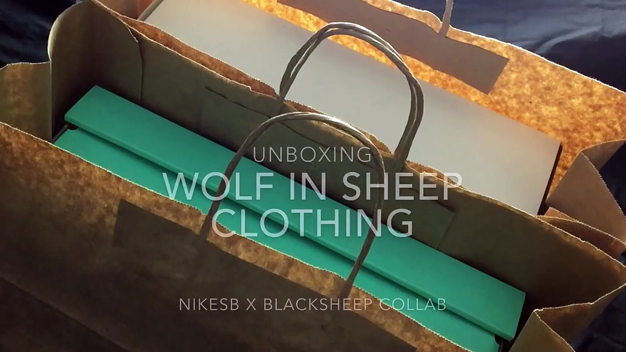 NikeSB x Black Sheep Wolf in Sheep Clothing DELUXE EDITION UNBOXING (UNRELEASED)