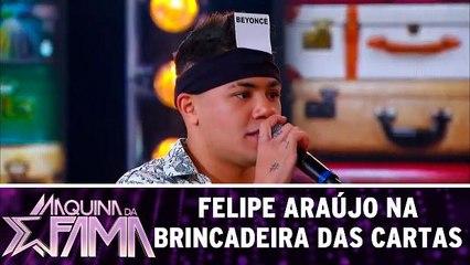 Felipe Araújo na Brincadeira das Cartas