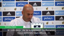 """Real Madrid - Zidane : """"Ronaldo est contrarié"""""""