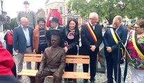 Lessines : inauguration de la statue de Magritte