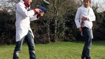 Paintballs against BARE SKIN in Slow Motion - The Slow Mo Guys