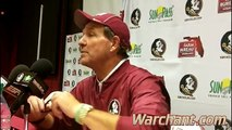 Post game PC: Jimbo Fisher talks about FSUs 37 34 loss to Clemson