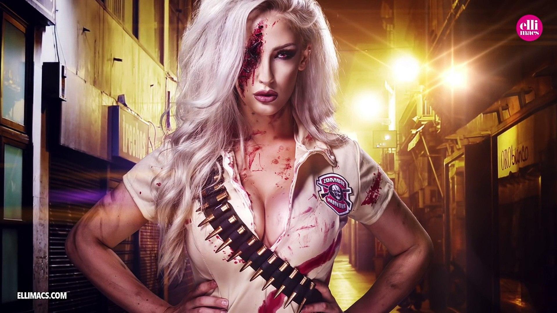 Zombie hunter makeup and costume idea