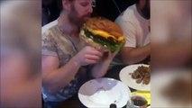Es-tu pret à manger ce hamburger géant ????