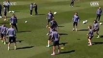 Real Madrid antrenmanında şov