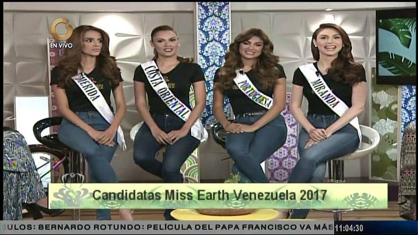 """Último grupo de candidatas del Miss Earth Venezuela visitó el estudio de """"Mujeres en Todo"""""""