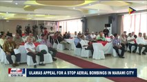Ulamas appeal for a stop aerial bombings in Marawi City