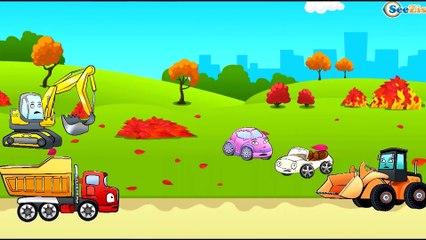 ✔ Carros Para Niños   Camión, Tractor, Excavadora   Caricaturas de carros. Tiki Taki Carros 10 min ✔