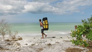This kayak transforms into a backpack