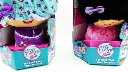 Flip Zee Girls Zabrina and Zuri Dolls Review - Transform Baby to Big Girl