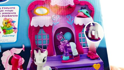 2017 New My Little Pony Playset - Rarity Fashion Runway Clip and Style Toy Review