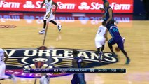 Nicolas Batum Between The Legs Pass To Kemba For The Layup!