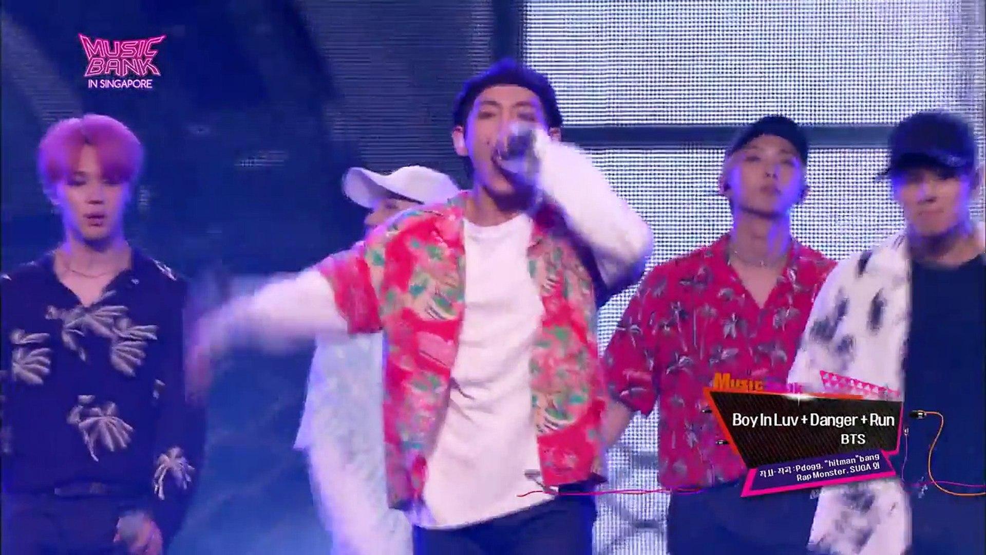 Music Bank - 상남자 + Danger + Run - BTS 방탄소년단 (Boy In Luv + Danger + Run - BTS).20170815