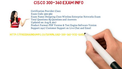 Pass Your Cisco 300-360 Eaxm With Freebraindumps.co