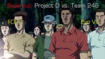 Initial D: Fifth Stage FD3S vs. Evo VII [SUPERCUT]