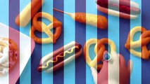 Comment à faire poupée Carnaval aliments chaud chiens entonnoir gâteau blé chiens et bretzels