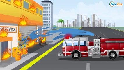 Сamión de bomberos ANSIEDAD   Uses of Fire Engine   Vehículos de Vídeos