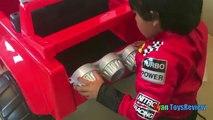 Et flamber voiture pour enfants les machines monstre sur puissance balade le le le le la un camion déballage roues 6v assembl