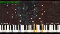 Yoru wa Mijikashi Aruke yo Otome Ending Theme | Kouya wo Aruke | Synthesia Piano | Sheet m