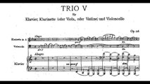 Johannes Brahms: Trio for clarinet, cello and piano Op. 114 (1891)