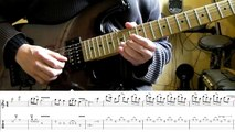 How to play Adrian Smiths solos #1 Hallowed Be Thy Name (with tablatures and backing trac