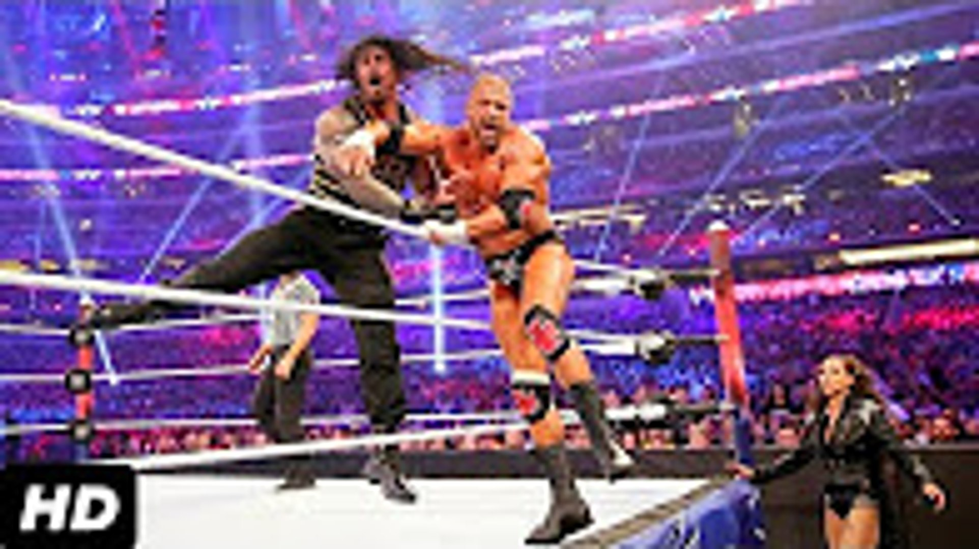 WWE Roman Reigns Vs Triple H _ The Big Dog Vs The Game _ WWE Championship _ WWE WrestleMania _ HD