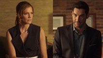EXCLUSIVE: Tom Ellis Concocts a Crazy Plan to Hide Tricia Helfer in 'Lucifer' Season 2 Deleted Scene