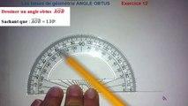 Maths 6ème - Les Bases De La Géométrie : Angle obtus Exercice 12