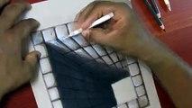 Un et un à un un à brique dessin trou trou Illusion 3d