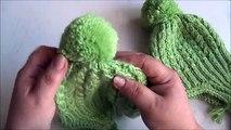 Oreilles Chapeau tricot avec avec oreilles chapeau tricot rayons Partie 1