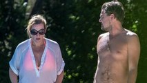 Titanic Co-stars Kate Winslet & Leonardo Dicaprio Enjoy A Pool Party Together