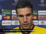 Robin Van Persie Interview after red card barcelona-arsenal
