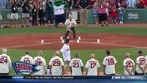 Baseball : un caméraman prend une balle dans les parties