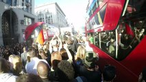 DJs cause chaos when they play set in middle of Oxford Circus, London