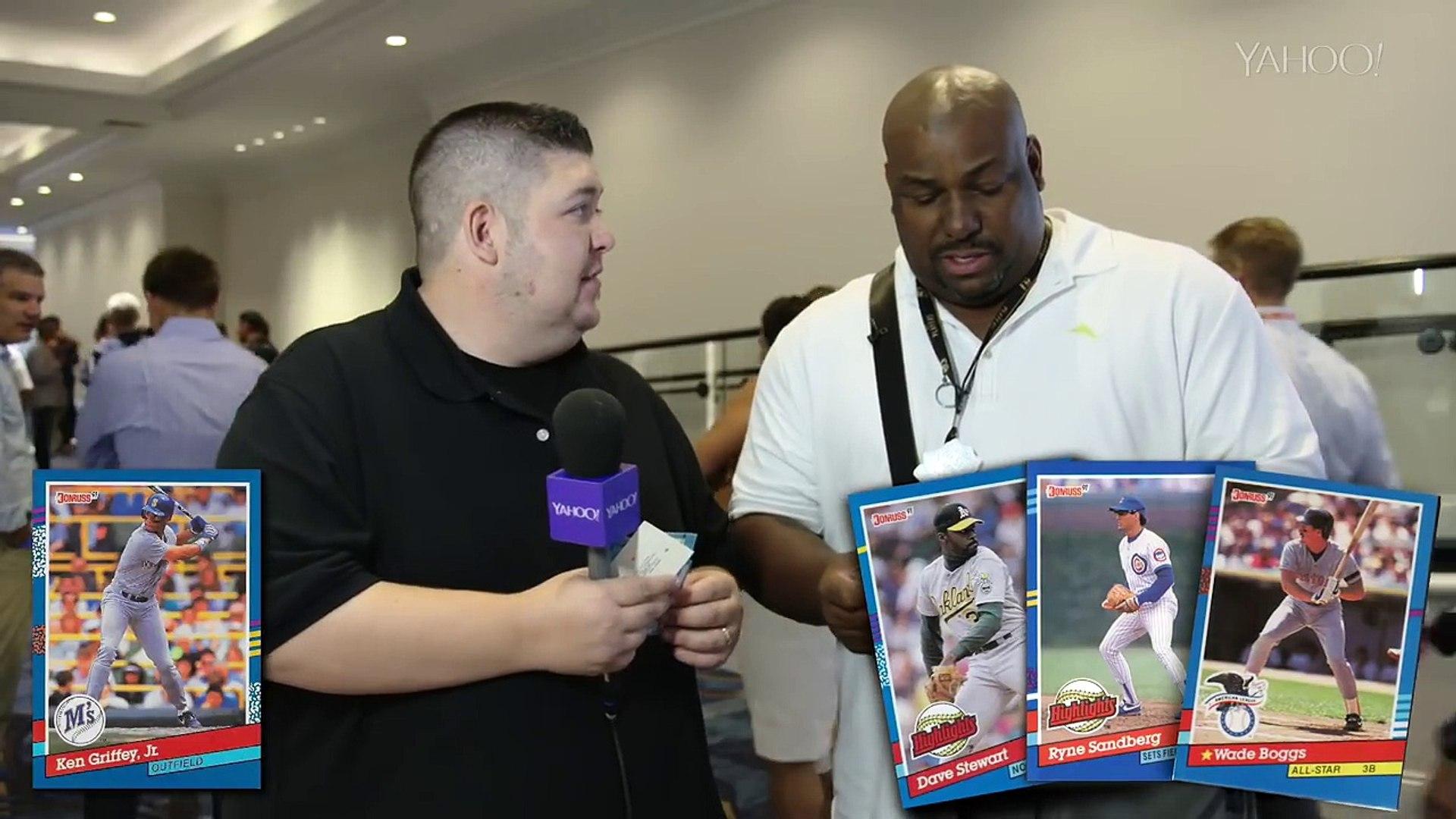 Bobby Bonilla opens 25 year old baseball cards