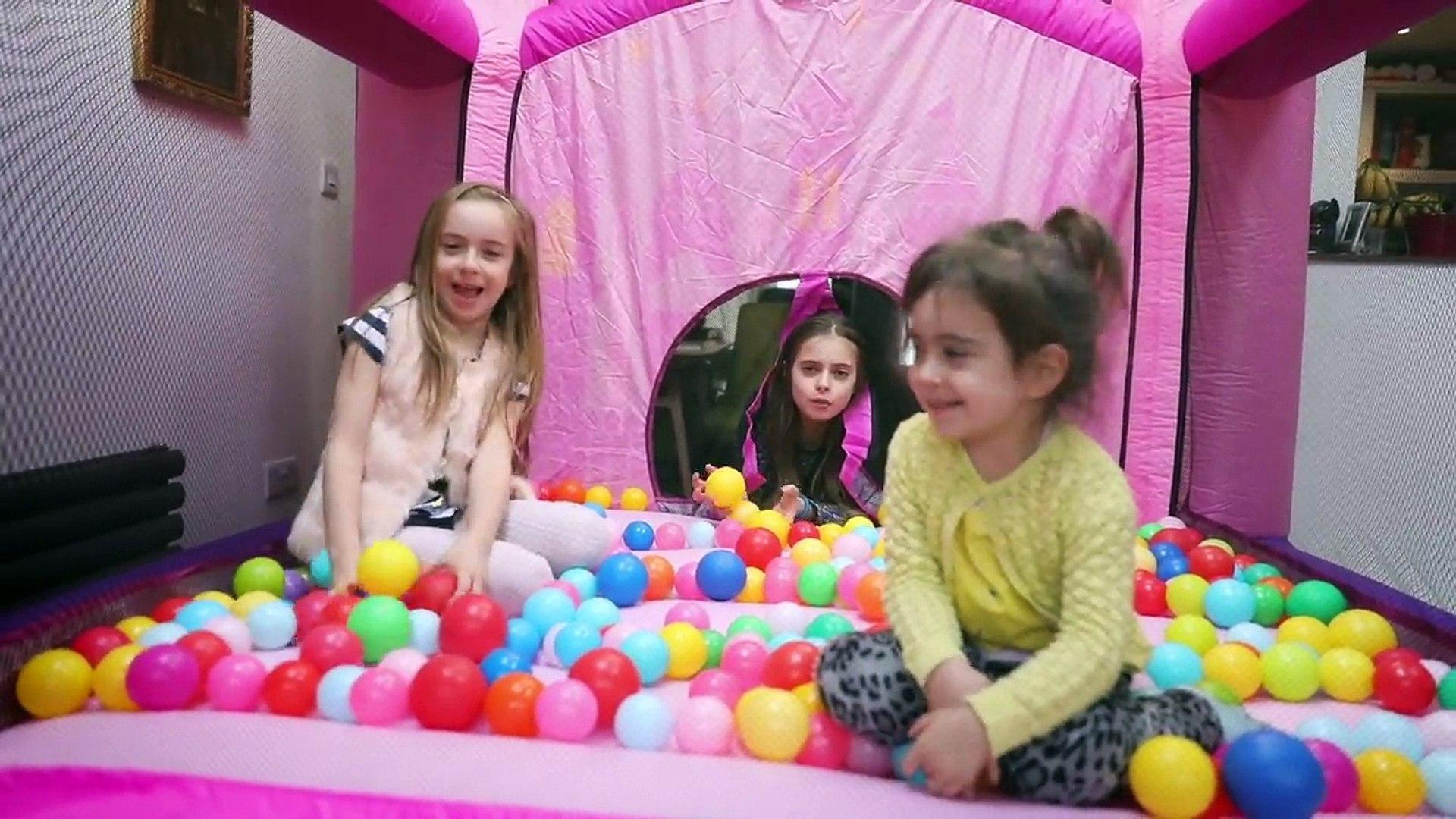 Magic Princess Bouncy Castle Fun Activities for Kids!