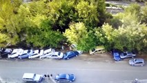 The news of the day. A few dozen cars washed away in the Crimea because of debris flow.Новости потоп в Крыму