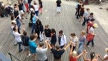 Initiation danse bretonne filets bleus